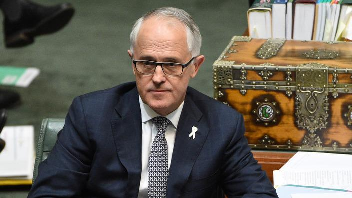 Prime Minister Malcolm Turnbull during Question Time at Parliament House in Canberra