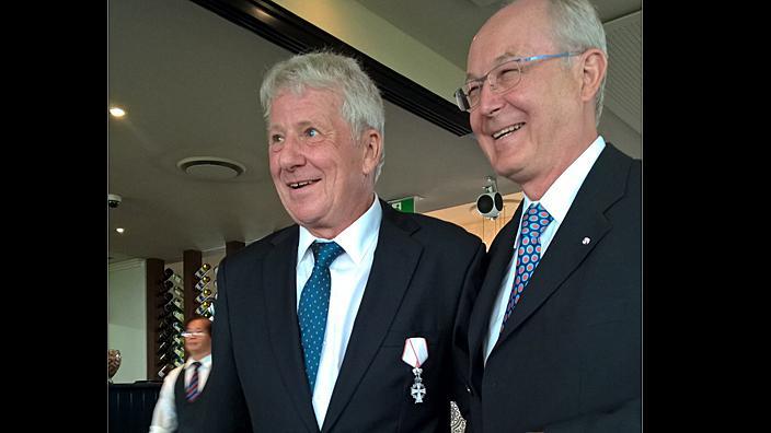 Lars Kirk (left) with the Danish Ambassador Børge Pedersen