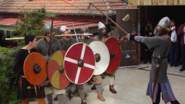 Viking Battle at the Scandinavian Market in Sydney 2015