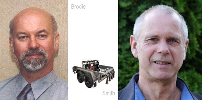 Dr Graham Brodie (left) and Jan Hugo Schmidt