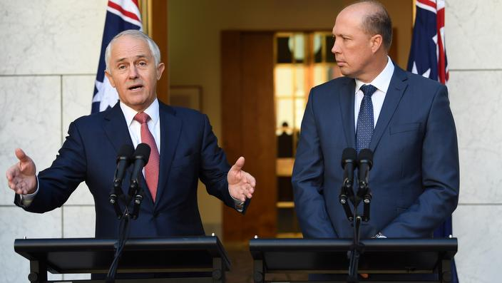 Malcolm Turnbull, left, and Peter Dutton