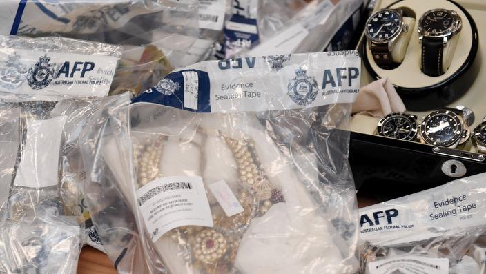 Seized items from the AFP raids