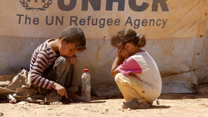 Mga kabataang repuging Syrian sa Jordan