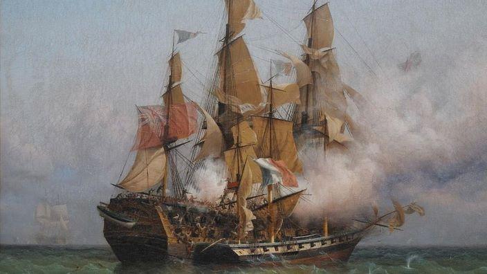 Combat de la Confiance, commandée par Robert Surcouf, et du Kent