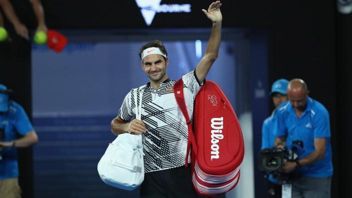 Der vielleicht grösste Athlet aller Zeiten? Roger Federer vor seinem Erstrundenmatch in Melbourne