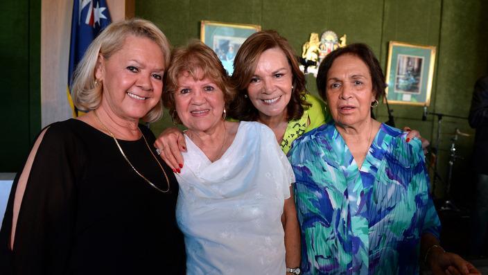 Kelompok Sapphires, dari kiri ke kanan, Laurel Robinson, Beverly Briggs, Lois Peeler and Dr. Naomi