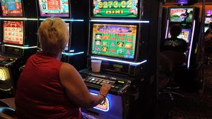 Gamblers at poker machines in Brisbane