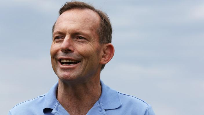 Tony Abbott at a Clean Up Australia Day event