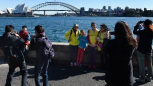 Chinese tourists in Sydney - AAP