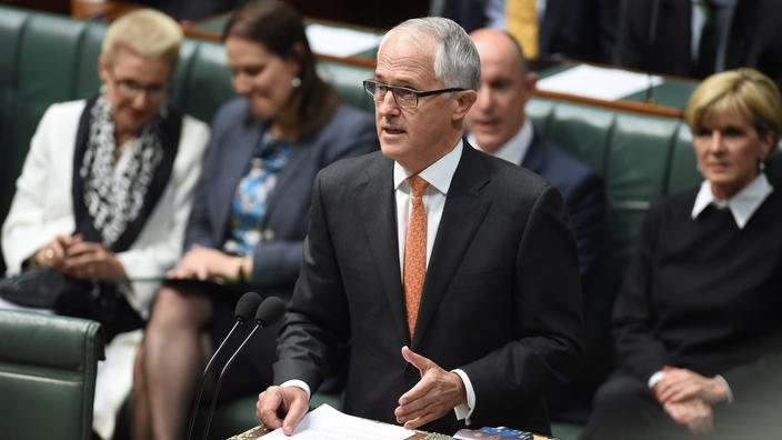 PM Malcolm Turnbull delivering his first national security address to parliament. (AAP)