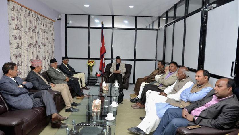 UDMF leaders in Nepal meeting with PM Pushpa Kamal Dahal