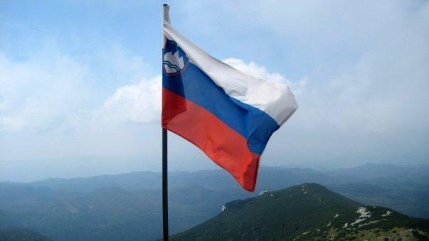 Slovenska zastava na Snežniku