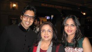 Actor Khalid with wife and Yasmin