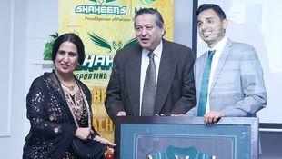 Pakistan HC Naela Chohan and Shaheens MD Kashif Bouns during the event