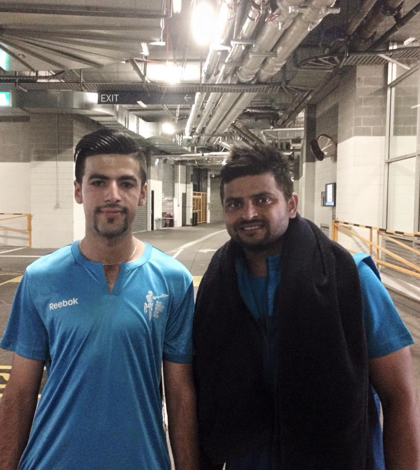 Arsalan with Indian cricket star Suresh Raina