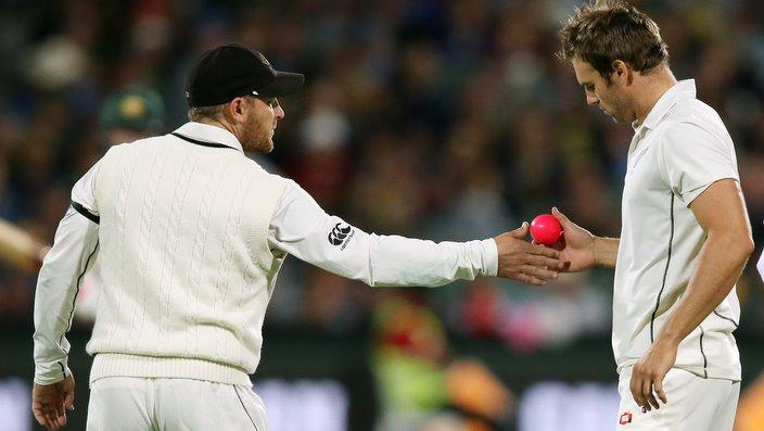 It is the first time that a pink ball has been used in a night test match