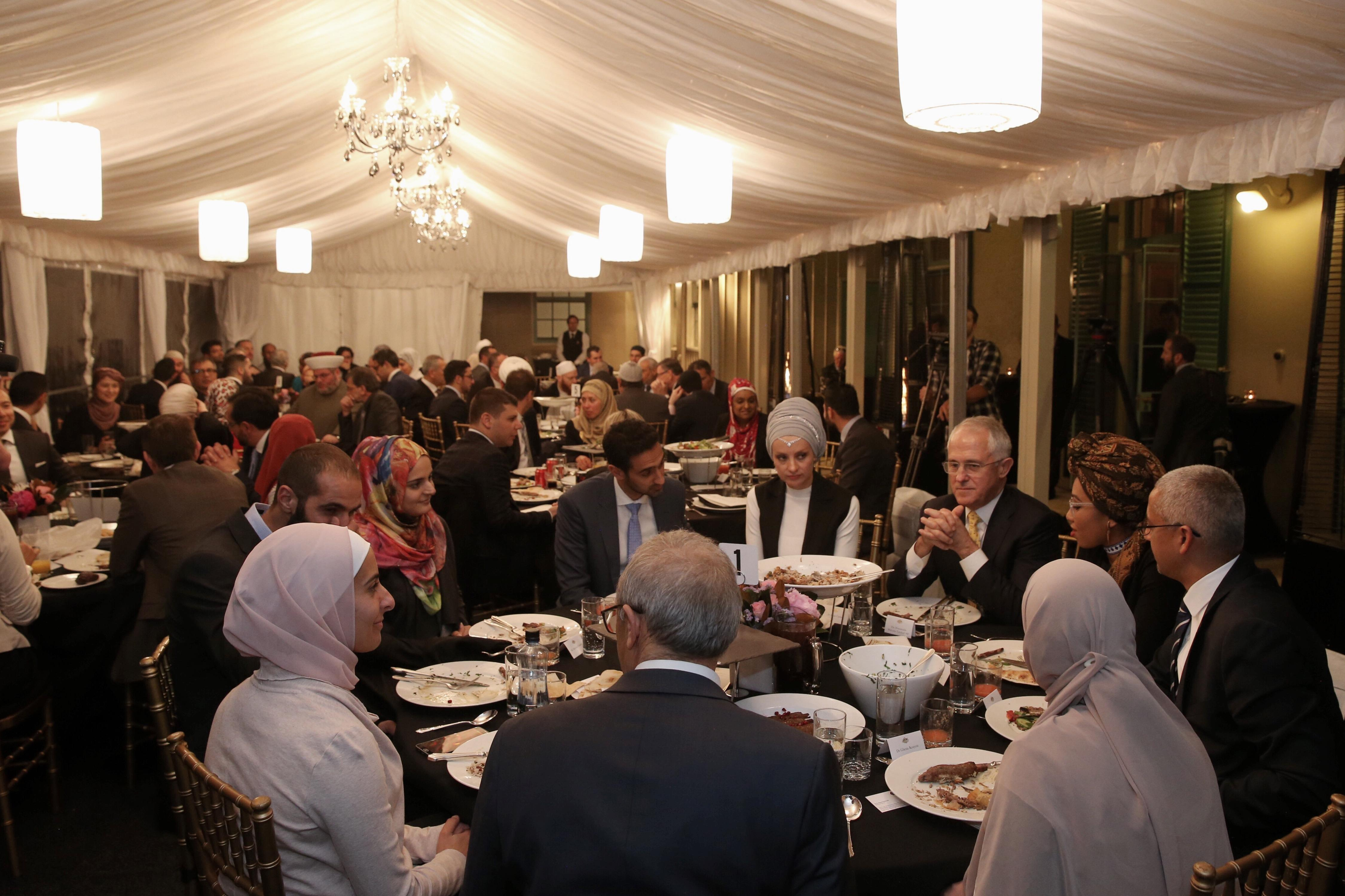 PM Malcolm Turnbull hosts Iftar-Dinner