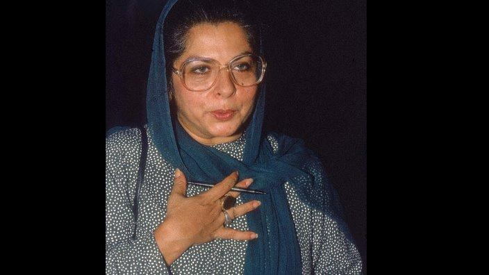 An old photo of Ms Abida Hussain