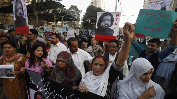 Pakistan civil society members condemn missing of activists Salman Haider