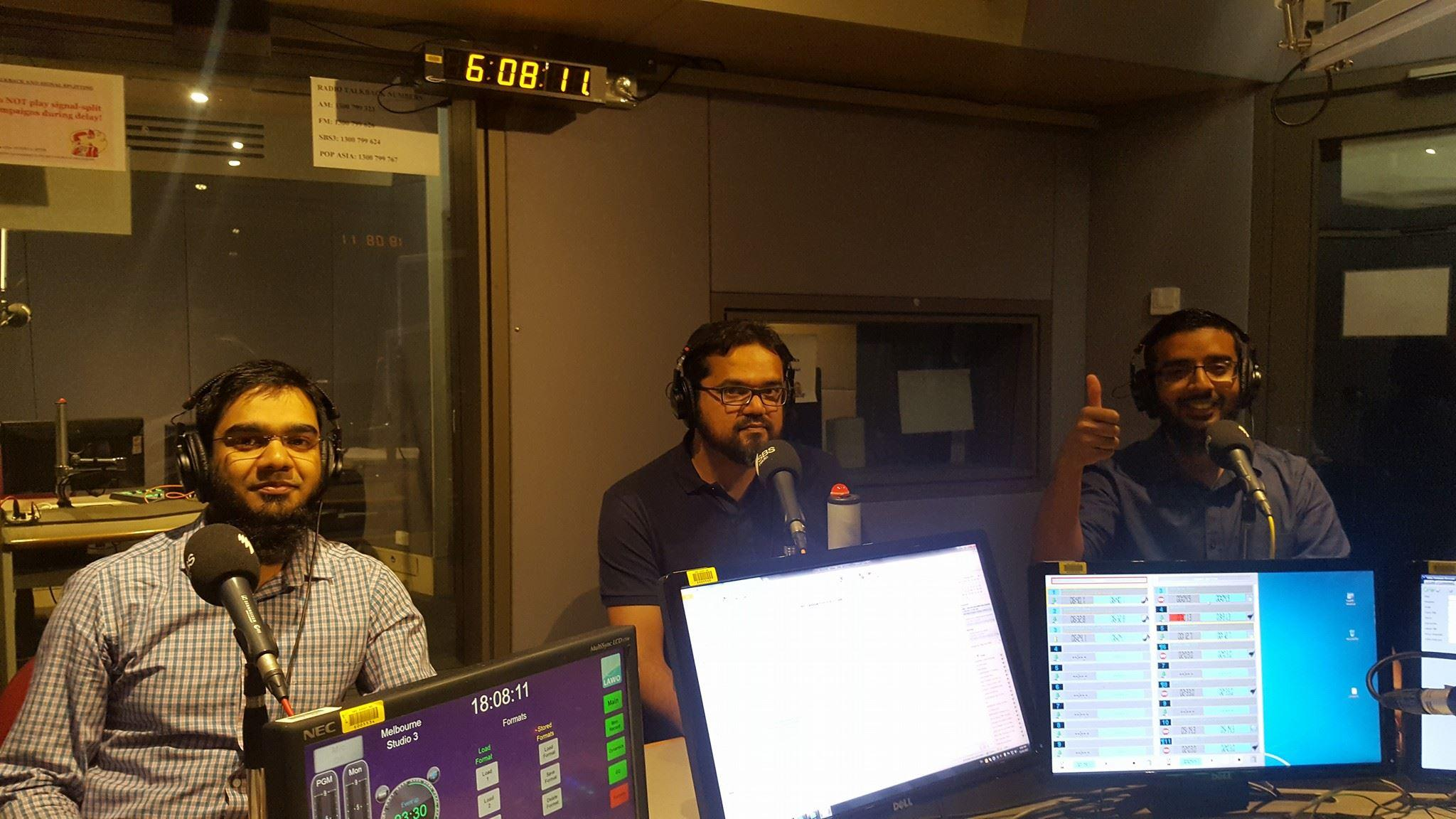 Melbourne Madina volunteers Farooq Syed, Abdul Aziz and Faizan Zia