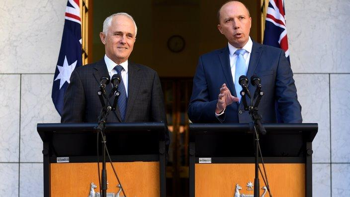 Prime Minister Malcolm Turnbull and Immigration Minister Peter Dutton