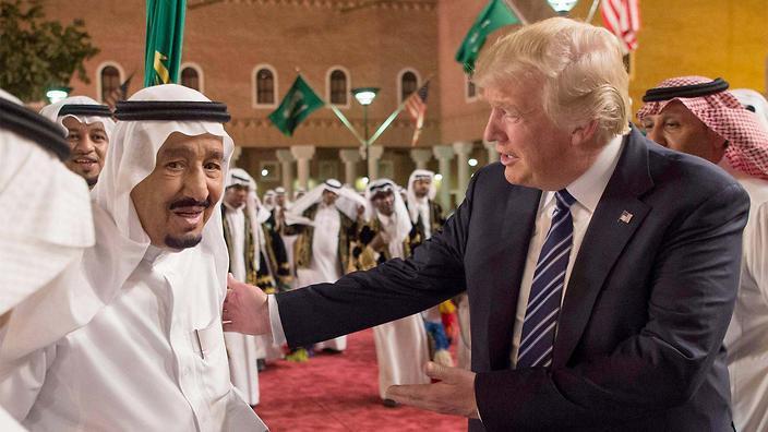 Trump with Saudi King