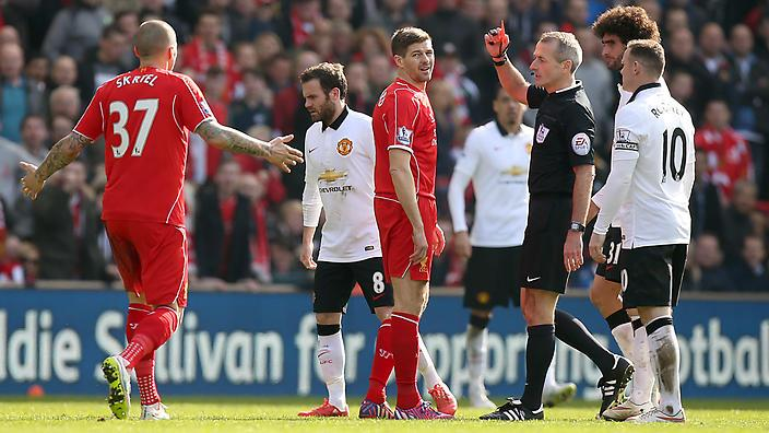Steven Gerrard sees red at Anfield (AAP)