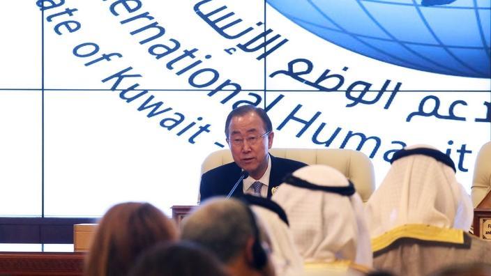 Tổng Thư Ký Ban Ki-moon tại cung điện Bayan, thành phố Kuwait