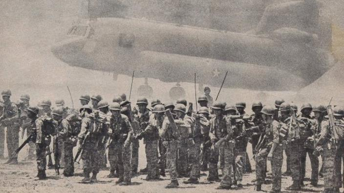 Đại Đội 92 TĐ 9 Dù ở Trảng Bom chuẩn bị vào Xuân Lộc tháng 4, 1975