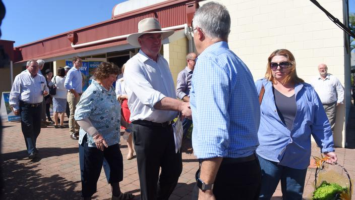 Barnaby Joyce and Malcolm Turnbull in Queensland
