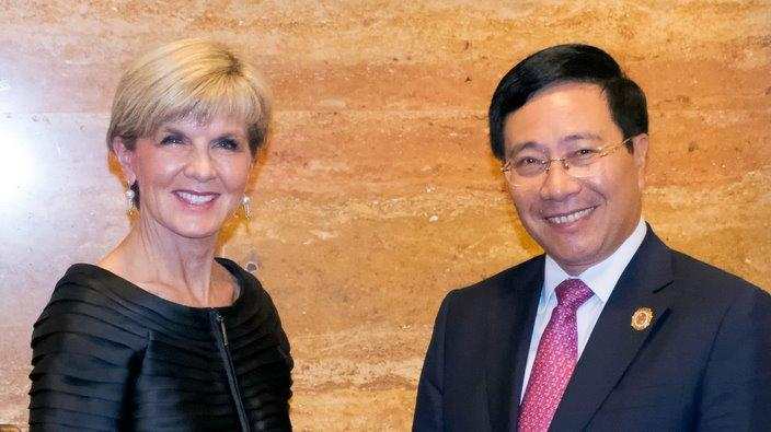 FM Julie Bishop and counterpart Pham Binh Minh