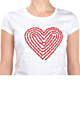 Heart Chain Womens T-shirt