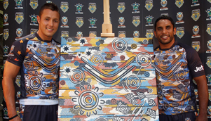 Scott Prince, left, and Preston Campbell, right, will take to the field for the Indigenous All Stars against the NRL All Stars [GETTY]