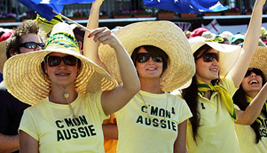 The 'C'mon Aussie, c'mon' campaign was a winner in the 1970s and 80s, but is now way past its used by date [GETTY]