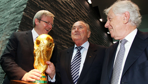 Kevin Rudd and Australia may have to wait until at least 2022 to get their hands on the World Cup [GETTY]