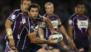 Melbourne Storm players were fired up in their 40-6 demolition of New Zealand Warriors at Etihad Stadium [GETTY]