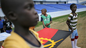 Inspired ... major sporting events can hopefully inspire poor nations, like Angola, to greater heights. [GETTY]